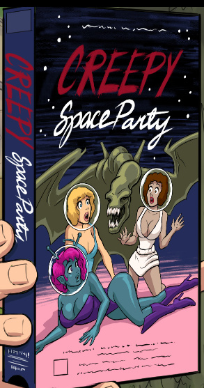 Creepy Space Party VHS Space Babe